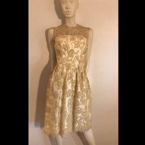 1950s MARDI GRAS Lace Wiggle Dress